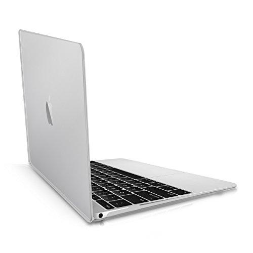 kwmobile Custodia Compatibile con Apple MacBook 12  (dal 2015 in Poi) - Cover Trasparente Protettiva per Notebook PC Trasparente - Protezione in Cristallo