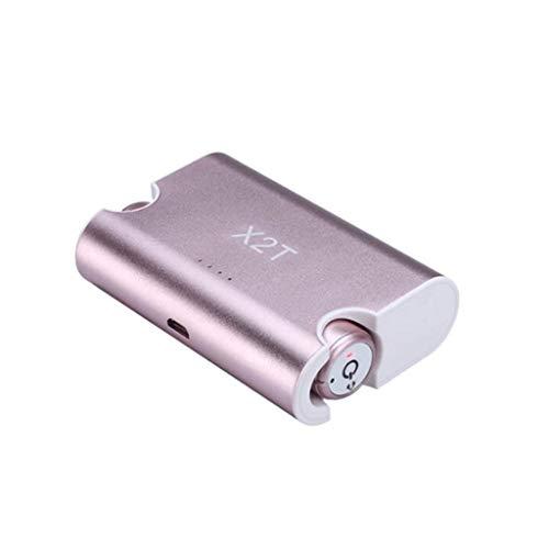 HUANGDA Binaural Bluetooth 4.2 Mini TWS in-Ear sans Fil Sport Casque Écouteurs Course à Pied Casque Sport (Color : Pink)