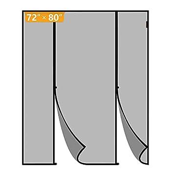 Yotache Magnetic Screen Door Fits Door Size 72 x 80 Double Door Screen Curtain for Sliding Door Fit Doors Size Up to 72 W x 80 H Max