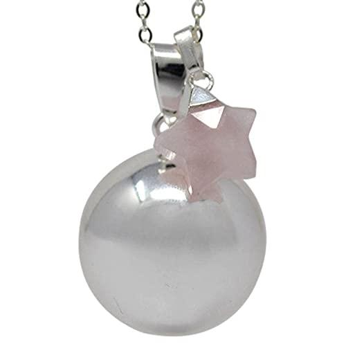 Sevira Kids - Colgante de bola para embarazo, diseño de estrella, cuarzo rosa