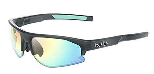 Bolle Bolt S 2.0 Tennis Sunglasses Black Crystal Matte and Phantom Clear Green ()