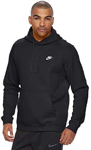 Men's Nike Club Fleece Pullover Hoodie (BLACK, XL)