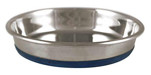 Our Pets DuraPet Stainless Steel Non-Slip Cat Food Bowls (Cat Food Bowl or Cat Water Bowl) [1.75 Cups of Dry Cat Food or Wet Cat Food] Easy to Clean...