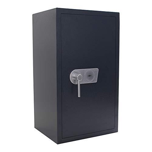 Rottner cassaforte a mobile Samoa 85, in acciaio a doppia parete con livello di sicurezza EN-0, serratura a chiave a doppia mappa, 2 ripiani regolabili, protezione antincendio, colore grigio antracite