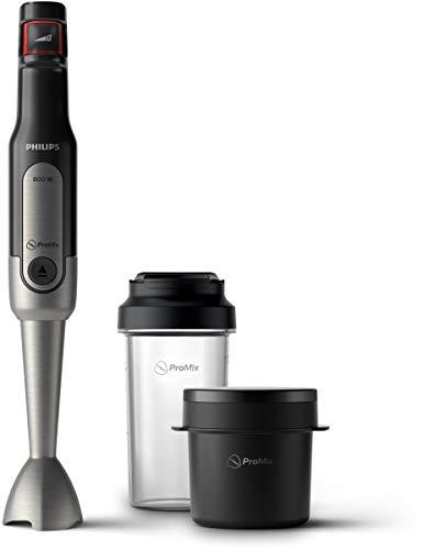 Philips Viva Collection HR2651/90 - Licuadora (11500 RPM, 0,5 L, Batidora de inmersión, Negro, Acero pulido, 1,2 m, China)