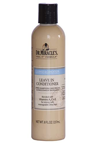 Dr. Miracles Cleanse & Cond Leave-In Conditioner 8oz (3 Pack)