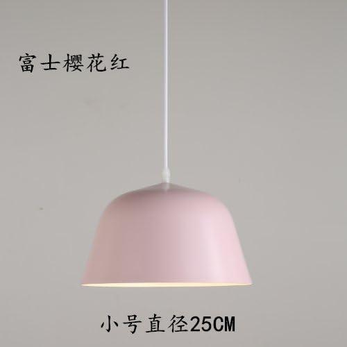 LuckyLibre Creative Moderne Mode Pendentif Luminaires Plafond Lampe Lustre Chambre Salon Cuisine,Le petit diamètre de 25cm de fleurs rouges.