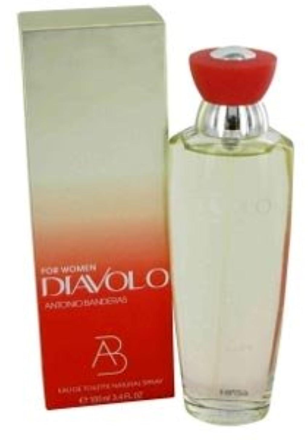 薄いです農業ましいDiavolo (ディアボロ) 3.4 oz (100ml) EDT Spray by Antonio Banderas for Women