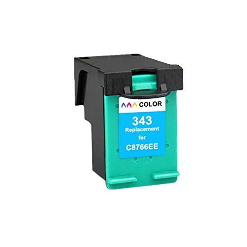 Cartuchos de tinta 337XL, cartucho de reemplazo de 343XL para HP Deskjet 5740 5743 5745 5748 Cartuchos de impresora de tinta compatibles con cuatro colores de cuatro Color