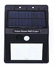 مصباح ال اي دي جداري للطرقات الخارجية بتصميم يعمل بالطاقة الشمسية ومزود بعشرين ضوء بالاضافة الى مستشعر حركة