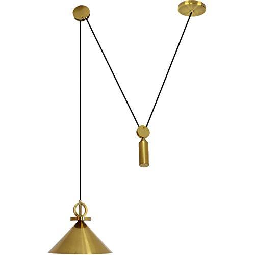 Kronleuchter Pendelleuchte Kreative Elegante Messinganhänger Einfacher EIN-Kopf Verschiedene dekorative Effekte Einstellbare Roller Deckenleuchte (Color : A, Size : 30x25cm)
