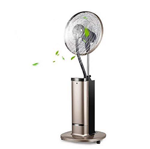 WZF Ventilador de Torre oscilante con Control Remoto, Ventilador de Escritorio con oscilación remota y termostato, 4 Modos operativos y Pantalla LED, Interiores
