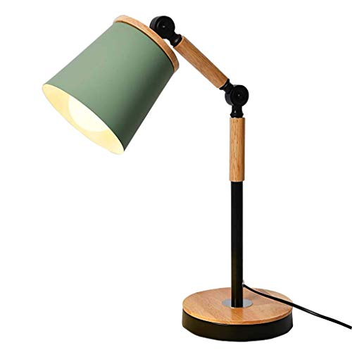 Lampes de bureau Lampe de table lampe pour travaux d'éclairage étude de Macarons en fer forgé bois LED enfants étude salon chambre-A