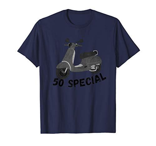 50 Special [Vespa] Per Vespisti e amanti delle moto scooter Maglietta