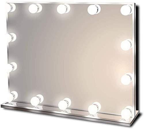 Star Vision Hollywood Spiegel mit Beleuchtung, Beleuchteter Schminkspiegel für Schminktisch, 14 Dimmbare LED-Lampen, Mehrere...