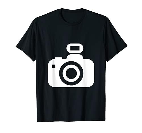Minimalista cámara fotográfica fotográfica fotográfica fotográfica sencilla Camiseta