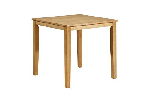 Kings Brand Furniture - Kurmer Square Wood Dining Room Kitchen Table, Natural Oak