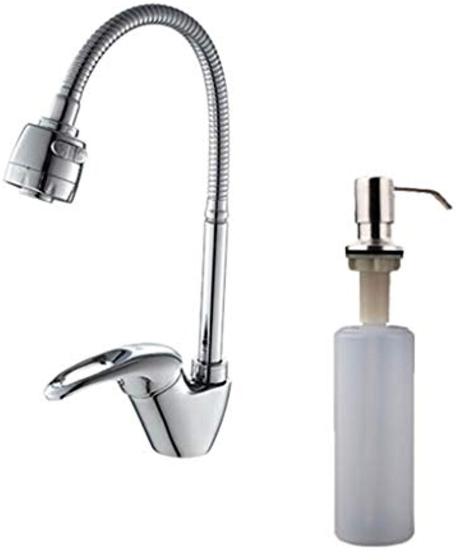 1 Set Messing Spüle Wasserhahn Mischer Kaltes und Warmes Einloch-Wasserhahn f4303F405-1D