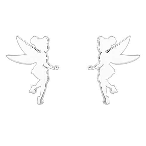 Disney Sterling Silver Tinkerbell Stud Earrings