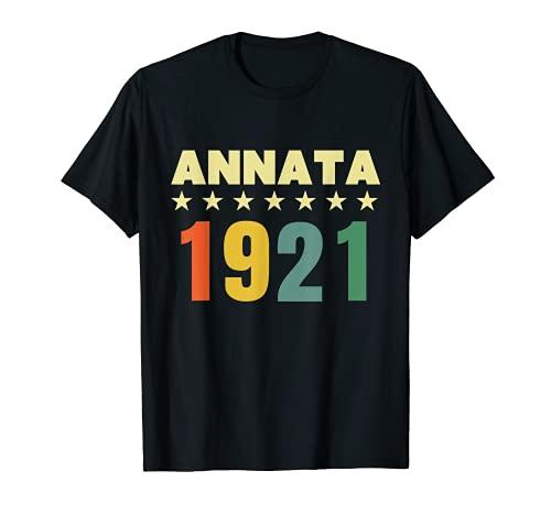 100 anni compleanno Maglietta Annata 1921 Maglietta