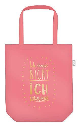Grafik Werkstatt Einkaufstasche mit lustigem Spruch Shopping-Bag faltbar   leichte Tasche   pink