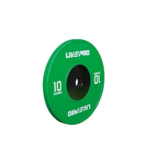 Livepro, set di piastre bumper per competizione, allenamento di forza, cross training, sollevamento pesi, allenamento con bilancieri