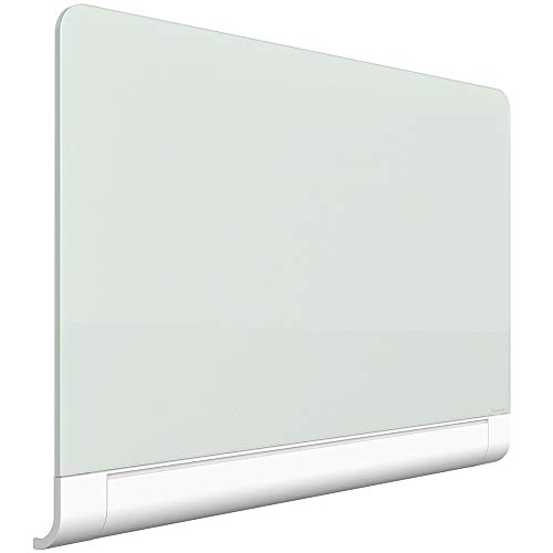 """Quartet Glass Whiteboard, Magnetic Dry Erase White Board, 50"""" x 28"""", with Concealed Tray, Wide Format, Frameless, Horizon (G5028HT)"""