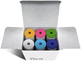 Flint Retractable Lint Roller Refills, 6 Pack, 30 Sheets Each, Solid Color Mix