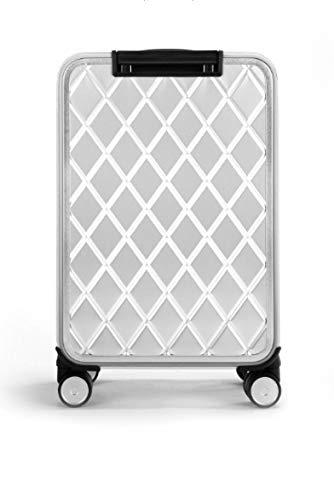 SONGXZ - Maleta con Ruedas y Apertura Lateral, de aleación de Aluminio y magnesio, con Forma de Diamante, Resistente a los arañazos, Plata (Plateado) - HNLY-6578