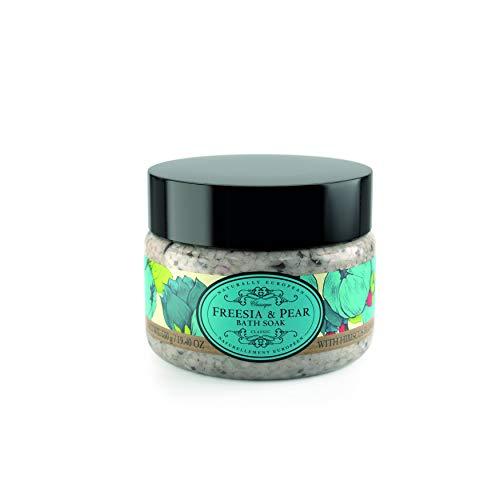 Naturally European Freesia & Pear Aromatic Bath Soak - Bath Salts 550g | Soothing Aching Muscles | Ease Stress