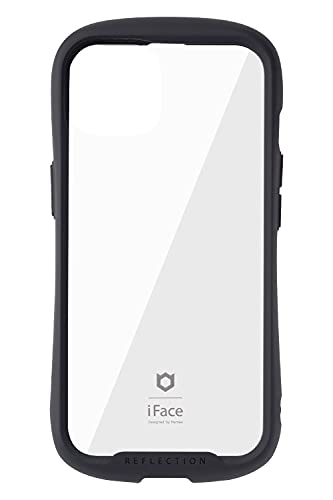 iFace Reflection iPhone 13 ケース クリア 強化ガラス iPhone 2021 6.1inch [ブラック]