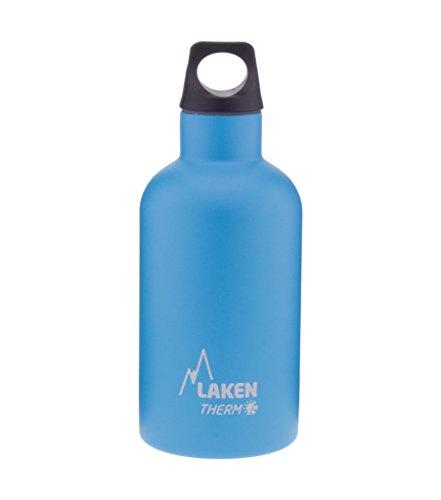 Laken Futura Bouteille isotherme en acier inoxydable 18/8 et double paroi de vide, unisexe adulte, bleu clair, 350 ml
