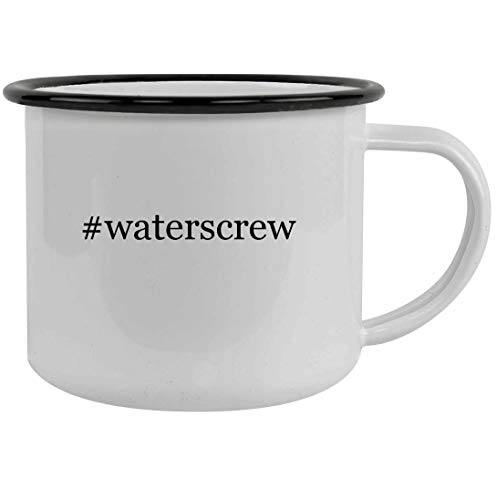 #waterscrew - 12oz Hashtag Stainless Steel Camping Mug, Black