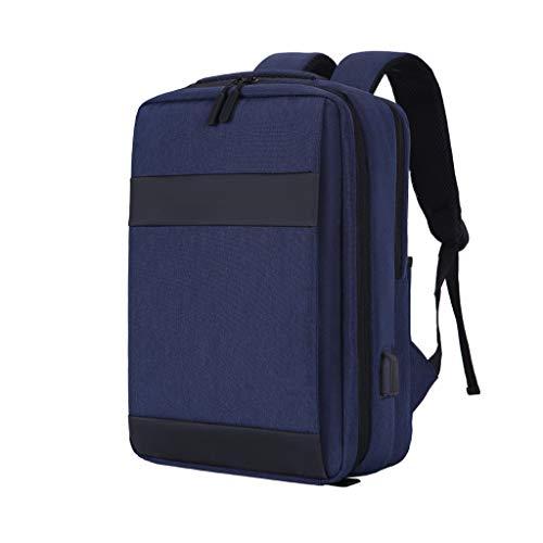 FH ラップトップバックパック、ビジネスバックパック14インチ/ 15インチ/ 15.6インチUSB充電インターフェース付き、学校に最適、旅行、ビジネス (Color : Blue, Size : 15.6 inches)
