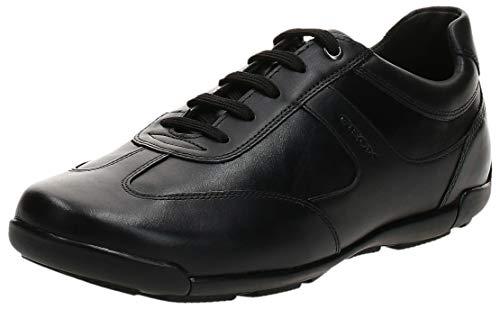 Geox Mens U EDGWARE A Sneaker, Black,42 EU