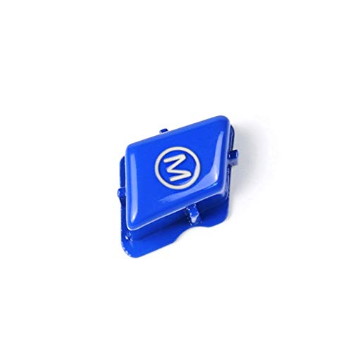 DecoracióN Del Volante Automotive Parts Interior de la moda M interruptor de botón de ajuste de la cubierta, conveniente for el BMW Serie 3 E90 E92 E93 M3 2007-2013 (Color : Blue)