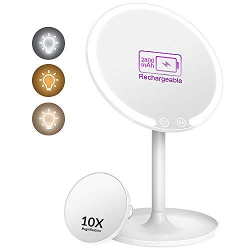 8 estetica chiara LED lo specchio rotazione di 180 gradi libera per Table Bagno LED Specchio da toilette Make up Tri-Fold Specchio illuminato