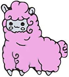 Cartoon Alpaca Cactus Enamel Pins Cute Sheep Women Brooch Denim Jackets Collar Lapel Pin Fashion Corsage Badges Kid Jewelry Gift - Pink Sheep