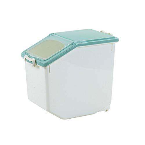 Lowest Price! LLRYN Green Rice Storage Box, Food Storage Container, Rice Dispenser, Kitchen Utensils...