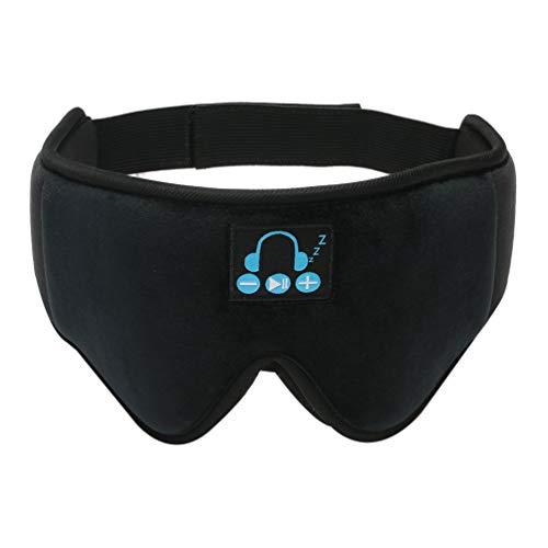 DOITOOL Schlaf Kopfhörer Auge Abdeckung Stereo Lautsprecher für Schlaf 3D Konturierte Augenbinde Schlaf Kopfhörer Reise Auge Schatten Abdeckung Meditation Yoga