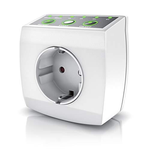 Countdown Timer Steckdose - Zeitschaltuhr - Zeitschalter - Steckdosentimer - mechanischer Timer – Energiespar-Dose - für Heizlüfter - 240 V - 3840W - Energieeffizient - Weiß
