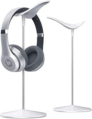 Headphone Desktop Stand Headset Holder - Lamicall Desk Earphone Stand, for All Headsets Such as HyperX Gaming Headphones, Beats/Sony/Sennheiser Music Headphones - White