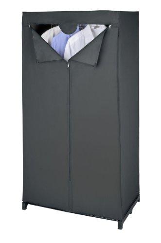 Wenko 43821010100 Kleiderschrank Deep Black , Kunststoff - Peva, 75 x 150 x 50 cm, Schwarz