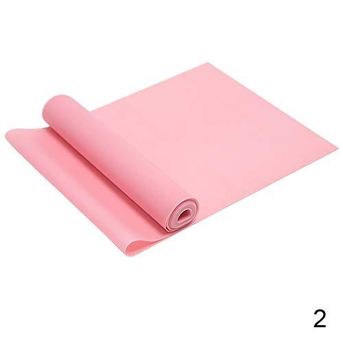 Hui JIN Bandas de ejercicio de resistencia para mujeres y hombres, ideales para entrenamiento de fuerza, yoga, pilates rosa 2 bandas
