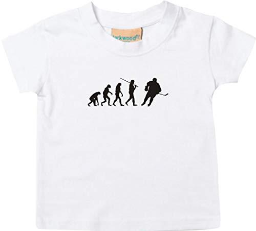 T-Shirt Enfants Evolution Hockey sur Glace Culte - Blanc, 36-48Monate