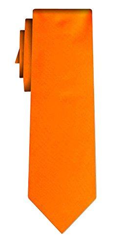 Cravate unie solid powerful orange VII