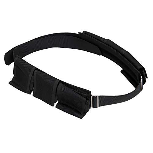 HomeDecTime Taschenbleigurte, Bleigurt Tauchen mit Taschen Bleigürtel Gewichtsgurt - 6 Taschen
