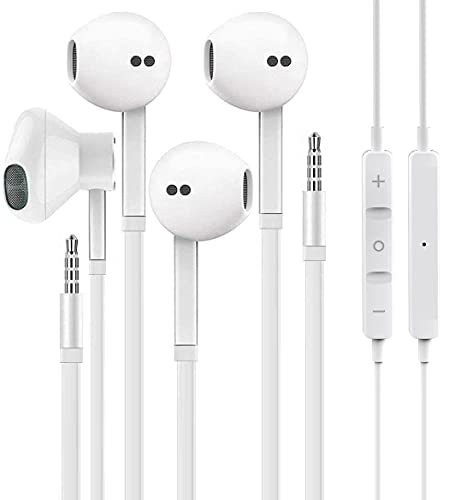 2 Pack for Apple Earbuds/Headphones/Earphones with 3.5mm Wired Headphones with Microphone & Volume Control [Apple MFi Certified] Compatible with iPhone6/6sp, iPad,iPod,Computer,MP3,Android, Tablets