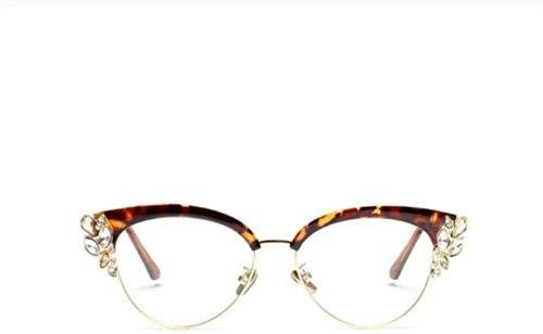 PJPPJH Glasses Fram Eyeweare Art Fashion Comfortable Lady Cat Eye Shiny Rhinestones Glasses Frames for Women Designer Eyeglasses Fashion Eyewear Gift