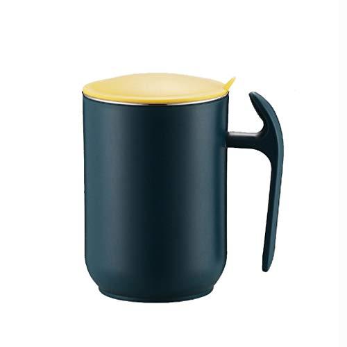Jarra de Leche Pequeña 304 olla de leche de acero inoxidable con tapa oficina cafetera doméstica masculina y femenina botella de agua gran capacidad con asa Jarra de leche Porcelana ( Color : B )